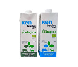 Llet de vaca sencera ecològica Ken